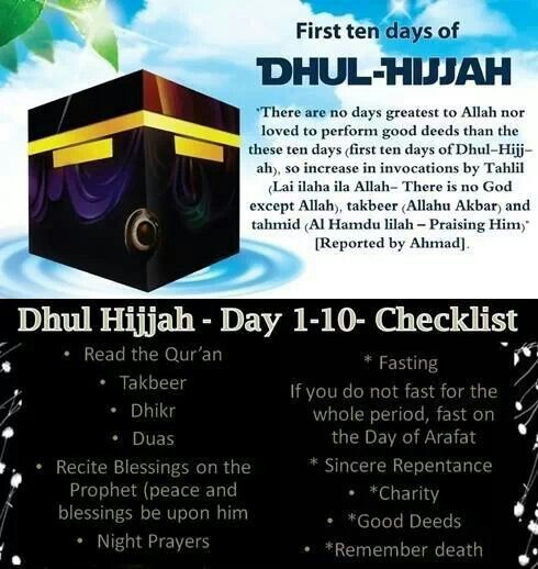 Fast, Dhikr, and Pray