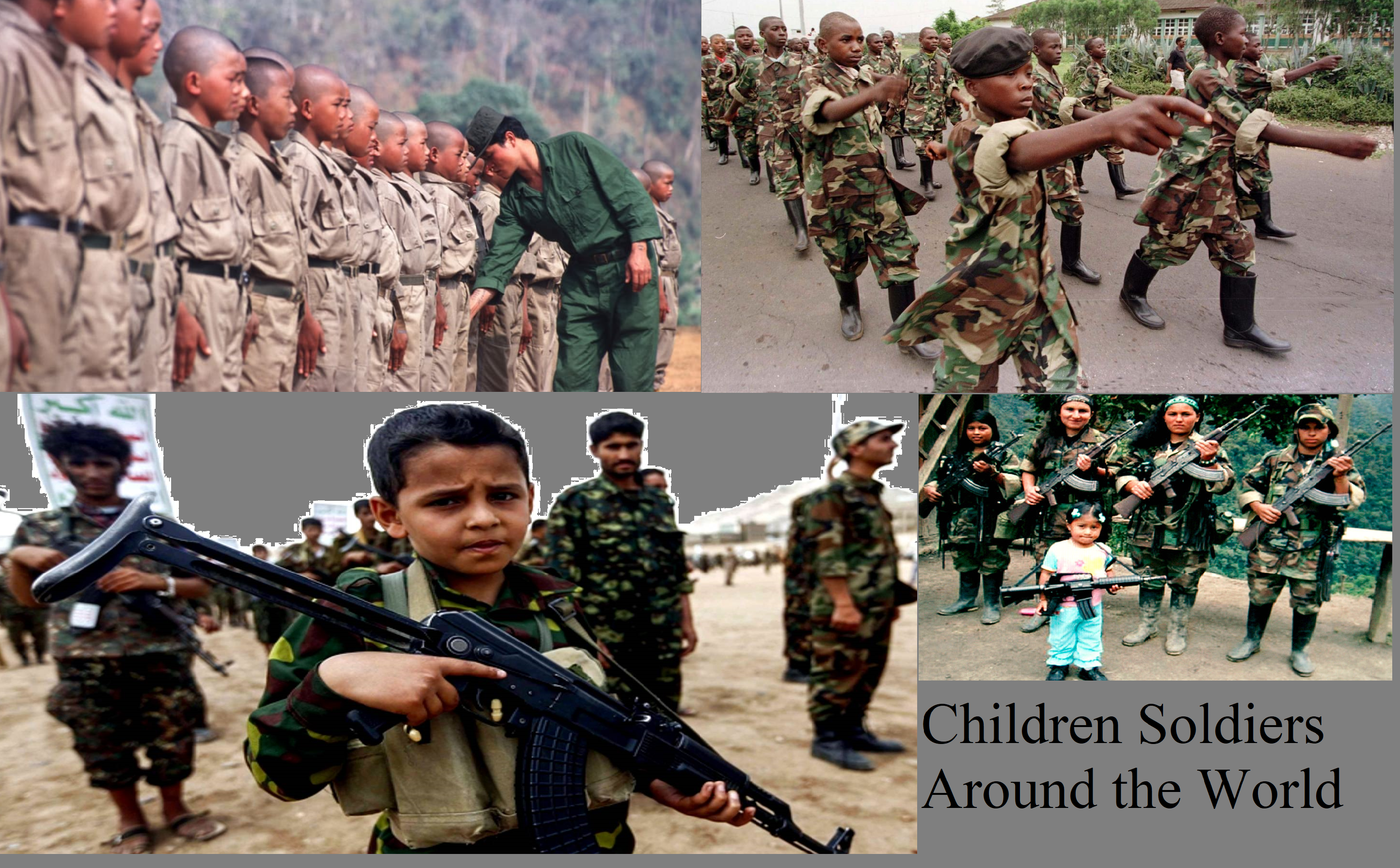 child soldiers asia africa south america